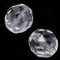 Czech Fire Polished Glass Beads 10mm Round Crystal (12)