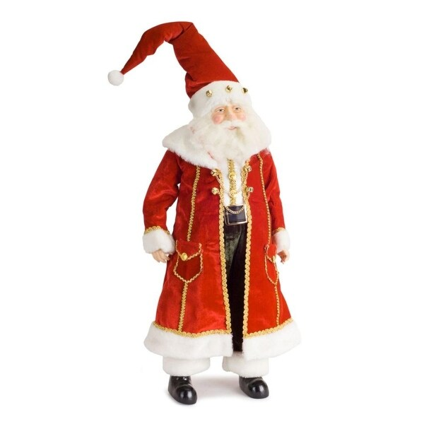"""24"""" Decorative and Well Dressed Santa Claus Table Top Christmas Figure"""