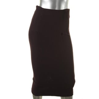 Catherine Malandrino Womens Textured Pleated Pencil Skirt - S