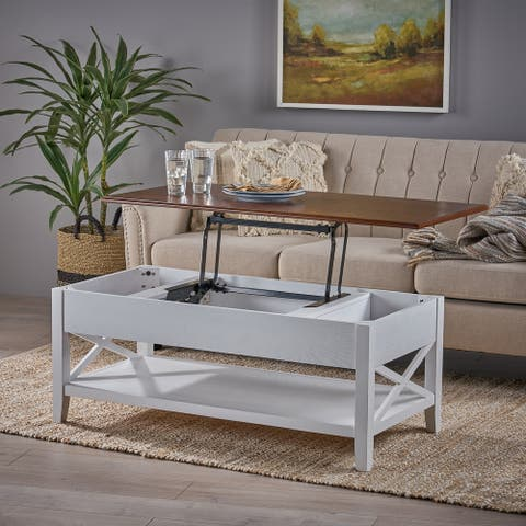 Decatur Farmhouse Lift Top Coffee Table by Christopher Knight Home