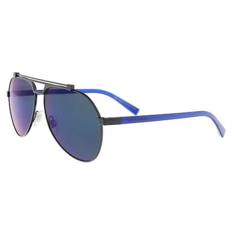 bf0845b714 Dolce   Gabbana DG2189 01 96 Black Aviator Sunglasses - 61-14-140