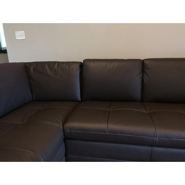 Wonderful Larry Dark Brown Leather Reverse Sectional Sofa/ Chaise Set   Free Shipping  Today   Overstock.com   12233669