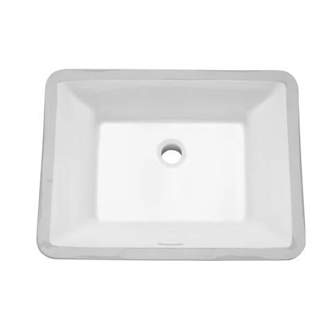 "Mirabelle MIRCRU1812 Carraway 20-1/2"" Vitreous China Undermount Bathroom Sink - White"