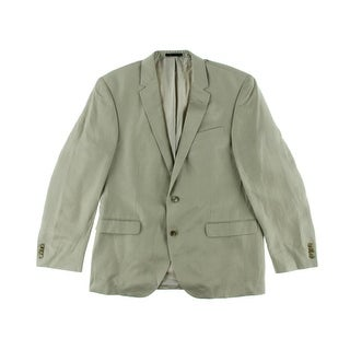 Kenneth Cole New York Mens Linen Slim Fit Two-Button Blazer