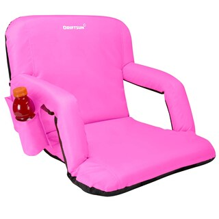 Driftsun Stadium Seat Reclining Bleacher Chair Folding with Back / Sport Chair Reclines Perfect For Bleachers Lawns and Backyard (Option: Pink)