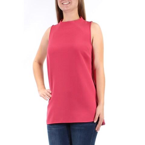 ALFANI Womens Pink Sleeveless Crew Neck Top Size: 8