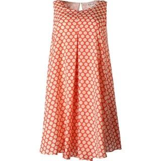 BCBGeneration Womens Chiffon Polka Dot Casual Dress
