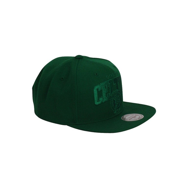 new styles 1a9bf 4e3fc Shop Mitchell And Ness Solid Team Arch Boston Celtics Snapback Hat Green -  Free Shipping On Orders Over  45 - Overstock - 16949414