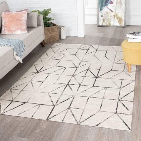 Thier Modern Geometric Mosaic Area Rug