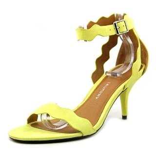 Chinese Laundry Rubie Women Open Toe Suede Yellow Sandals