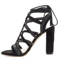 BCBGeneration Womens Ronny Leather Open Toe Special Occasion Strappy Sandals