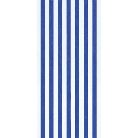 Cabana Stripes Cobalt 30x60 Brazilian Velour Beach Towel