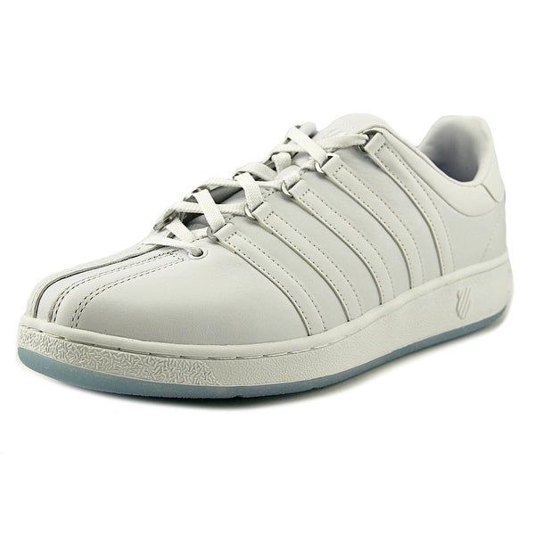 K-Swiss Classic VN Men Round Toe Leather White Sneakers