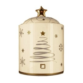 Snowlit Holiday Cookie Jar