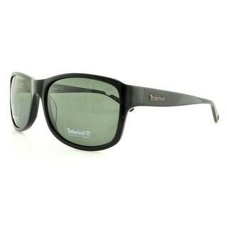 Timberland Eyewear TB9062 Shiny Black Frame Green Polarized Lens Sunglasses