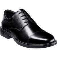 Nunn Bush Men's Jordan 84326 Cap Toe Lace Up Comfort Gel Black Smooth Leather