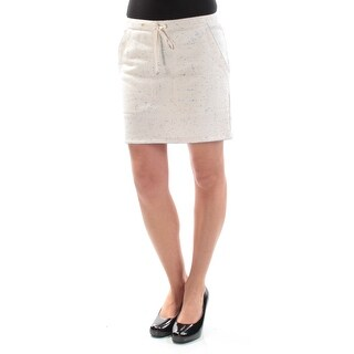 MAX STUDIO $58 Womens New 1102 Ivory Speckle Tie Mini Pencil Casual Skirt XS B+B