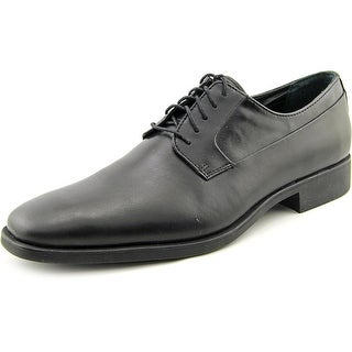 Calvin Klein Edison Men Plain Toe Leather Black Oxford