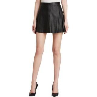 Love Leather Womens Mini Skirt Mini Leather - L