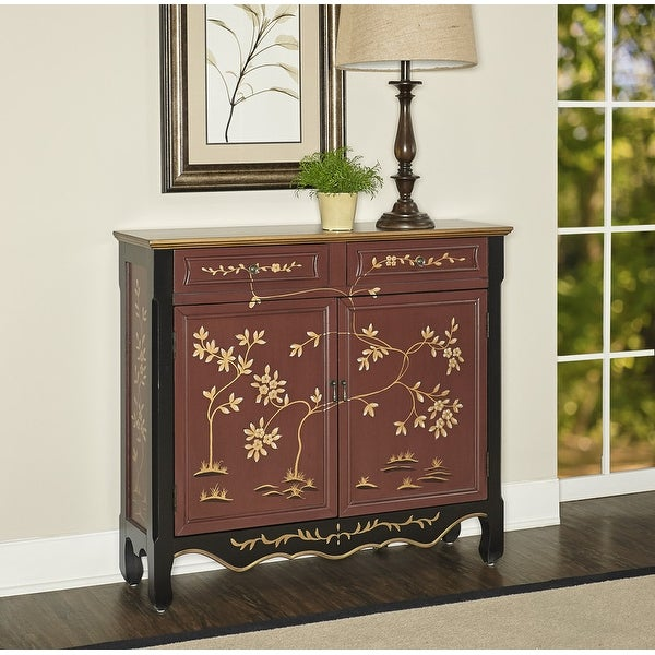 Powell Canton Red Oriental Console. Opens flyout.