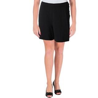 Lauren Ralph Lauren Womens Dress Shorts Ponte Side Buttons