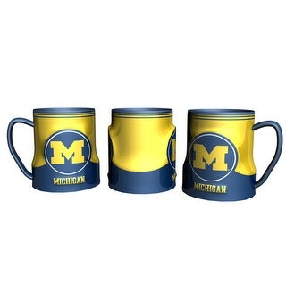 Michigan Wolverines Coffee Mug - 18oz Game Time (New Handle)