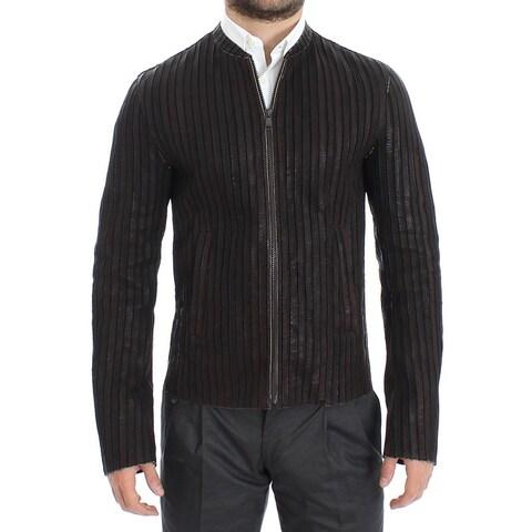 Dolce & Gabbana Dolce & Gabbana Brown Leather Jacket Biker Coat