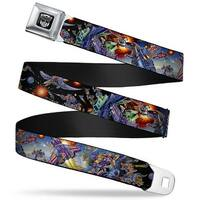 Transformers Autobot Logo Full Color Black Silver Gradient Transformers '85 Seatbelt Belt