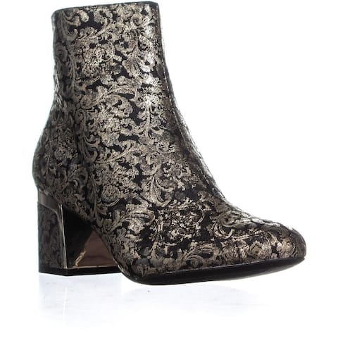 DKNY Corrie Ankle Boots, Brocade Black/Gold