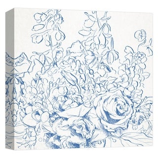 "PTM Images 9-124601  PTM Canvas Collection 12"" x 12"" - ""Rose Sketch"" Giclee Roses Art Print on Canvas"