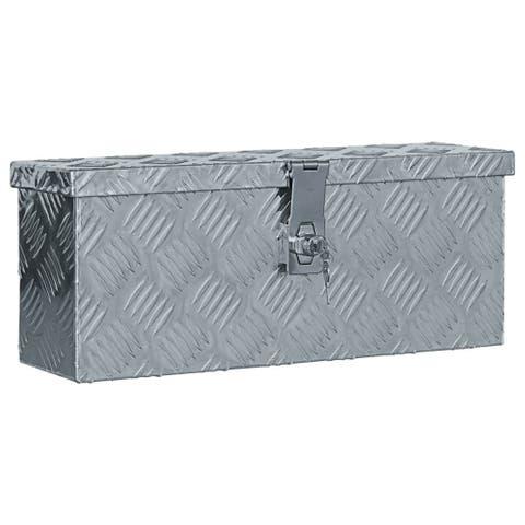 "vidaXL Aluminum Box 19.1""x5.5""x7.9"" Silver"