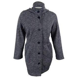Style & Co. Women's Babydoll Flecked Hooded Jacket - xxl