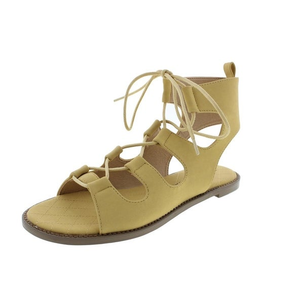 Chinese Laundry Womens Guess Who Gladiator Sandals Faux Nubuck Lace-Up