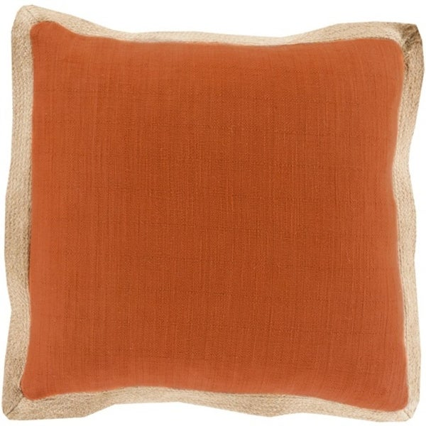 "18"" Altın Lif Burnt Orange and Light Taupe Decorative Throw Pillow - Down Filler"