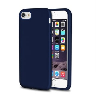Insten Blue Slim Rubber Silicone Rear Skin Gel Case Cover for Apple iPhone 7