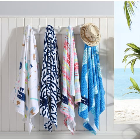 SCOUT Home Oversized Printed Cotton Beach Towel - 70 x 40