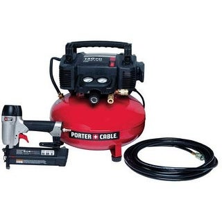 "Black & Decker Pcfp12236 Porter Cable 2"" Brad Nailer Compressor Combo Kit"