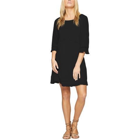Sanctuary Clothing Womens Eyelet-Trim Pleated Dress