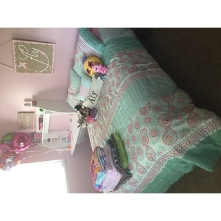 Mi Zone Elie Seafoam Printed Comforter Set with Embroidery and Pintucks