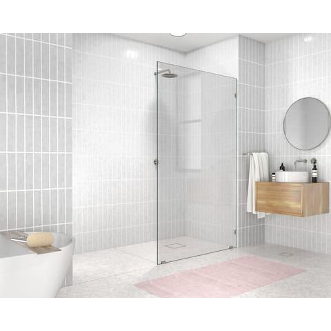 "Glass Warehouse 78"" x 47"" Frameless Shower Door - Single Fixed Panel"