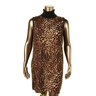 Lauren Ralph Lauren Womens Casual Dress Knit Back Ocelot Print
