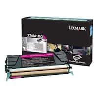 Lexmark X746A1MG Lexmark Toner Cartridge - Magenta - Laser - 7000 Page - 1 Pack