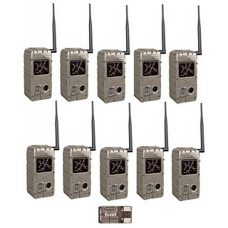 Cuddeback 20MP Dual Flash Trail Camera (10) with CL-Caps and USB Reader