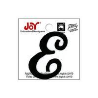 """Joy Applique Letter Iron On Script 1.5"""" Black E"""
