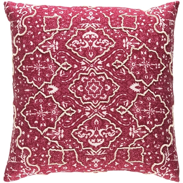 Decorative Saintes Maroon 18-inch Throw Pillow Cover. Opens flyout.