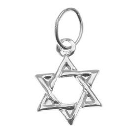 Sterling Silver Lightweight Jewish Star Of David Charm 11mm (1)