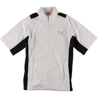 Puma Mens Colorblock Mock Neck Athletic Jacket - L