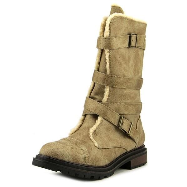 Rocket Dog Lane Adams Women Round Toe Leather Tan Ankle Boot