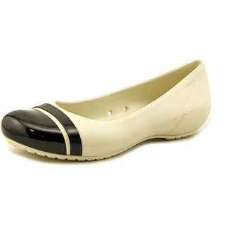 Crocs Egypt Women Round Toe Synthetic Ivory Flats