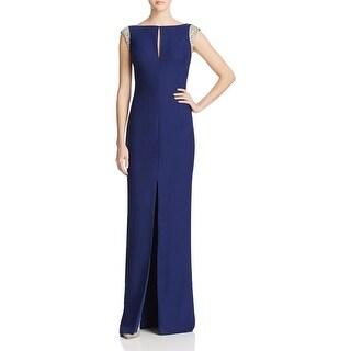 Aidan Mattox Womens Evening Dress Embellished V Back